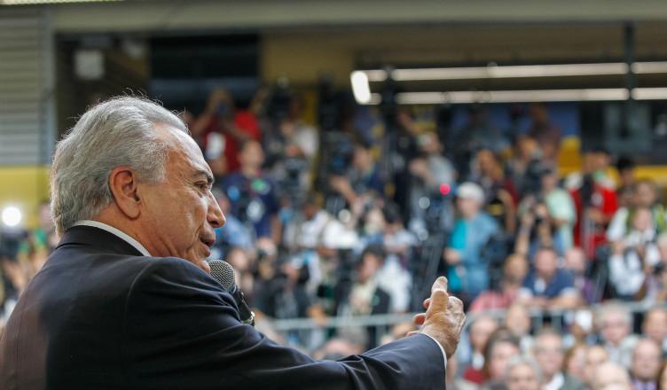 Presidente em Exercício Michel Temer durante cerimônia de Inauguração da Linha 4 do Metrô do Rio de Janeiro (Rio de Janeiro - RJ, 30/07/2016) Foto: Beto Barata/PR  [Fotos Públicas]