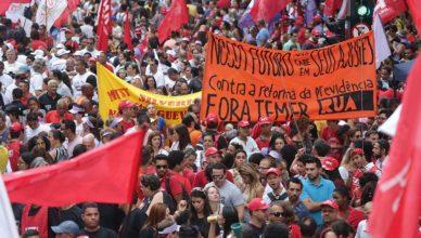 Protesto contra a reforma da Previdência, em 15 de março, em São Paulo. Luta ganha adesão de mais um setor relevante da sociedade brasileira e pressiona governo Temer a ampliar debate sobre o tema [Foto: Paulo Pinto/APT/Fotos Públicas]